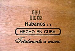 Fabrik-Code und Abpackdatum der Cigarren
